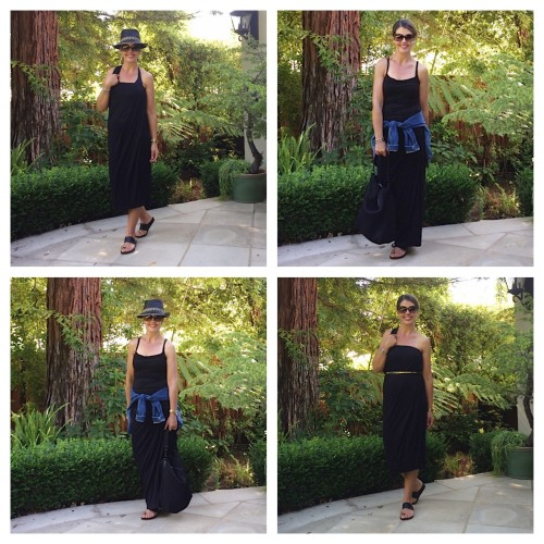 convertible maxi skirt 12 ways - what to pack on vacation