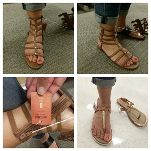 Mossimo Tessie Sandal via Target, more gladiators on AskSuzanneBell #ontheblog