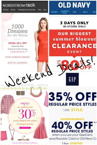 Weekend Sale Round up on ASkSuzanneBell.com