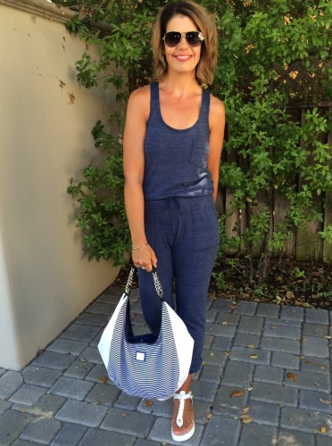 Sporty Chic | The Jogger Jumpsuit | Styled up on www.asksuzannebell.com