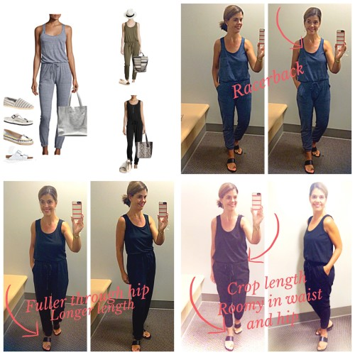 sporty chic jumpsuits | dressing room reviews @LastCallNM |www.asksuzannebell.com