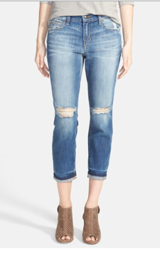 Joes Markie crop skinny jean at Nordstrom | fall denim on asksuzannebell.com