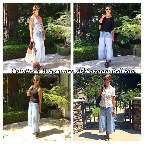 Chambray Culottes, Styled 4 Ways | An Outfit Post