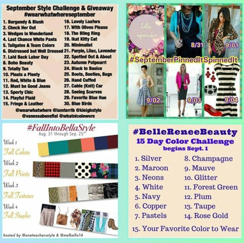 September Instagram Style Challenges | A month of Outfit Ideas on www.asksuzannebell.com