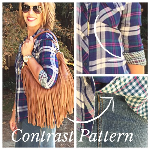 Plaid, denim and fringe | an outfit post on www.AskSuzanneBell.com