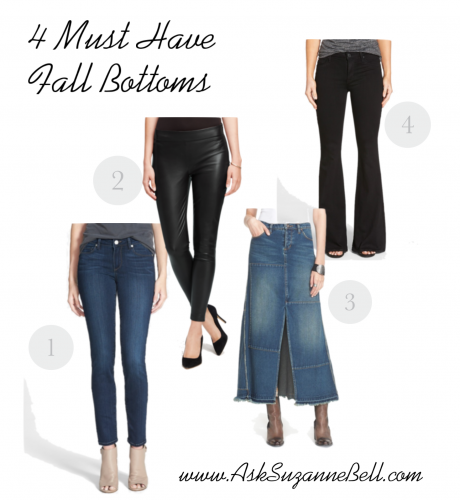 Fall Must Haves on www.asksuzannebell.com