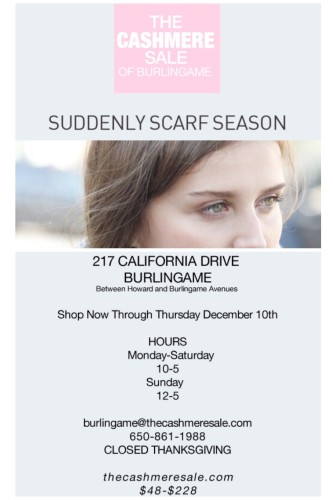 Cashmere Sale Burlingame