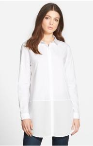 trouve white poplin shirt