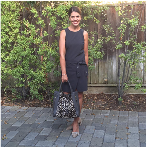 Fall outfit on AskSuzanneBell.com | shift dress and Boden bag