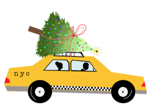NYC holiday taxi via Verrier Boutique