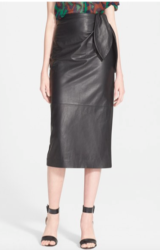 DVF Roxanne Leather Skirt | Nordstrom Exclusive | reviewed on www.AskSuzanneBell.com
