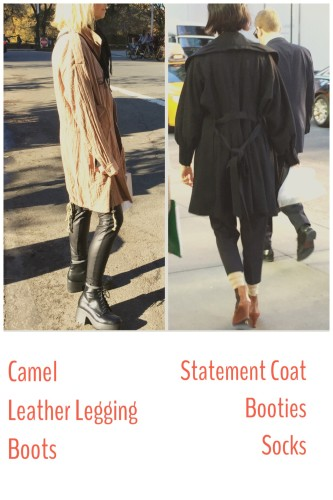 Street STyle NYC | Camel, Booties, Leggings