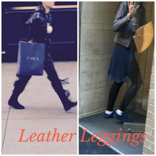 Street Style NYC | Leeather Leggings