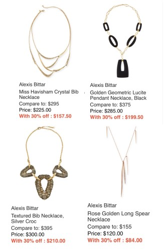 ALexis Bittar on sale at Last Call Statement necklaces
