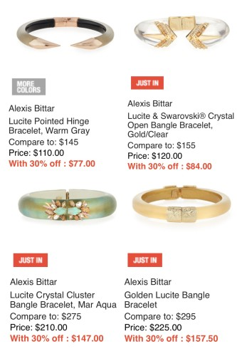 ALexis Bittar on sale at Last Call | bangles