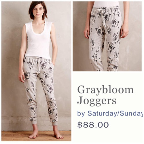 Graybloom jogggers Anthropologie