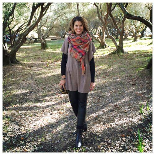 How to wear and tie a blanket scarf on AskSuzanneBell.com