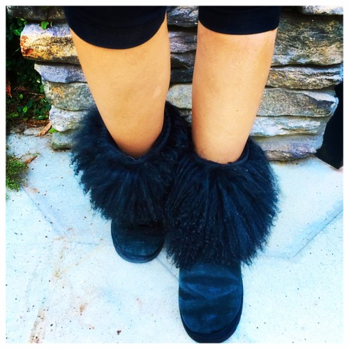 Festive in Faux Fur on AskSuzanneBell.com