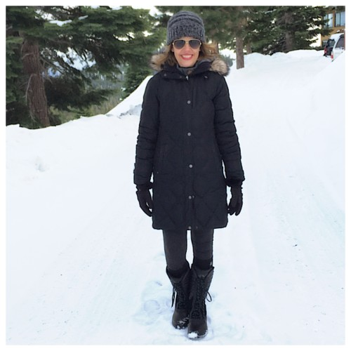Snowy day outfit post on AskSuzanneBell.com
