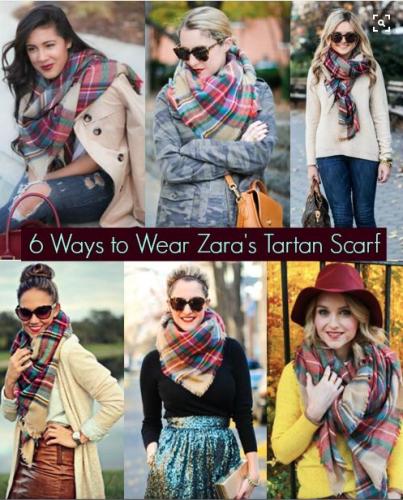 how to wear a Zara scarf, via Pinterest