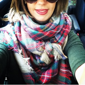 plaid blanket scarf | a styling post