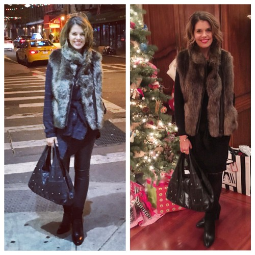 Faux Fur Vest Looks on AskSuzananeBell.com