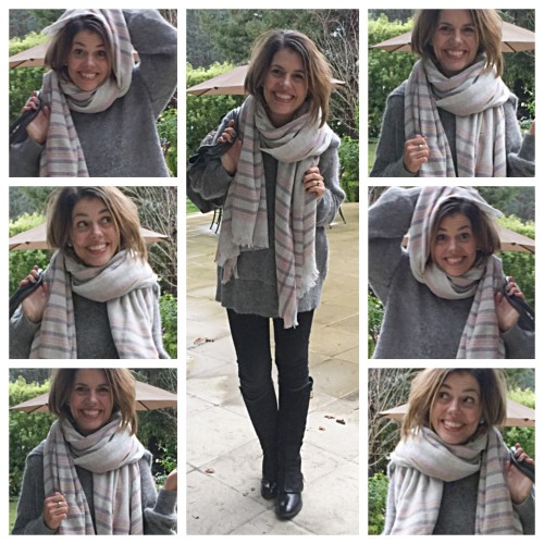 J Crew plaid scarf on AskSuzanneBell.com