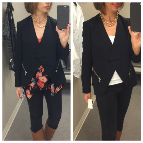 Trouve jacket at Nordstrom | dressing room reviews on AskSuzanneBell.com