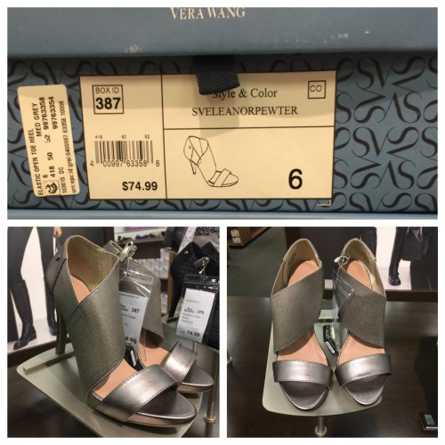 Vera Wang Pewter Sandal | Look for Less | AskSuzanneBell.com