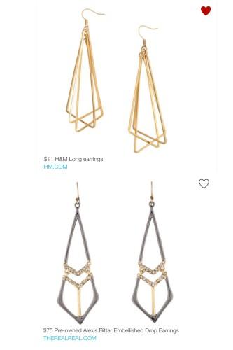 look for less - drop earrings