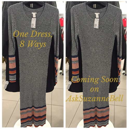 sweater dress via h and m