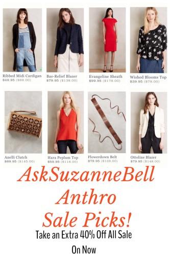 Anthropology Sale Picks on AskSUzanneBell.com