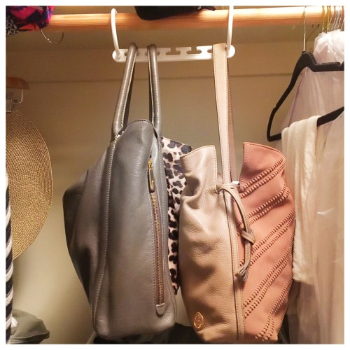 how I store my handbags