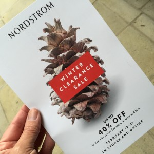 nordstrom Clearance Sale Postcard