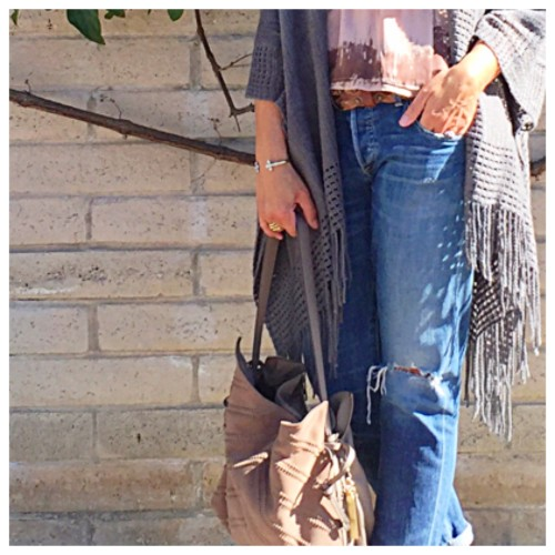 What I Wore: Fringe Poncho and Boyfriend Jeans | Weekday Casual Look