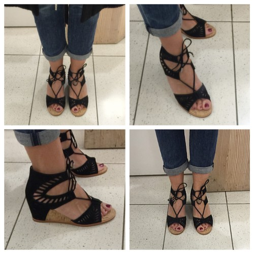 Lace Up Wedge on AskSuzanneBell.com