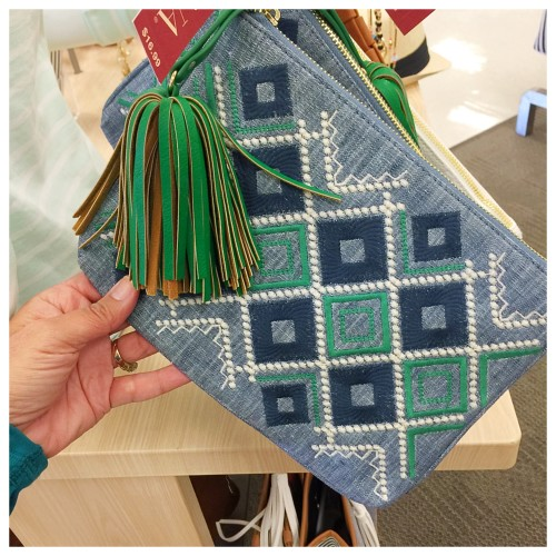 Tribal Chambray Clutch: Target Finds