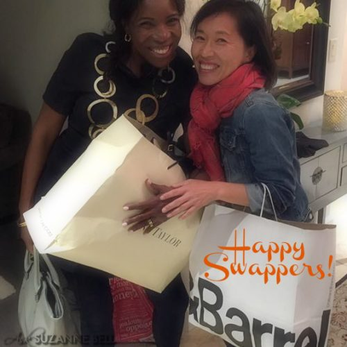 Toni and Jennie Happy Clothing Swappers on AskSuzanneBell.com