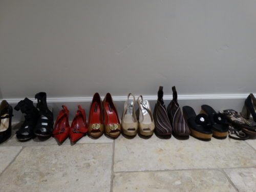 shoes in the hallway