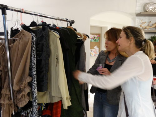 sip and swap shoppers Karen and Maud