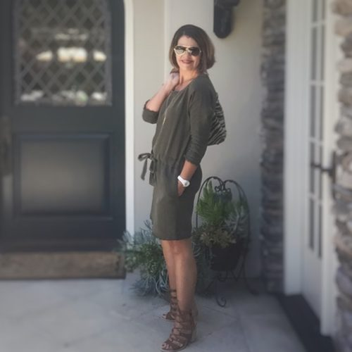 Current Elliott Shift Dress | Outfit Post | What to Wear over 40