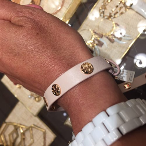 Tory Burch Wrap Bracelet in Blush