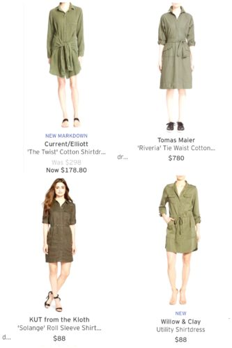 Nordstrom shirt dress picks