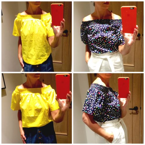 J Crew Off the Shoulder top: Reviewed on Ask Suzanne Bell