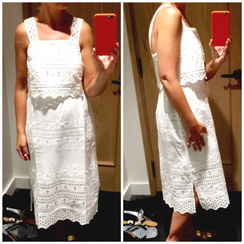 J Crew Eyelet Dress, reviewed on Ask Suzanne Bell