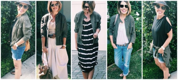 Styling up Target Finds: Who What Wear Utility Jacket, 5 Ways