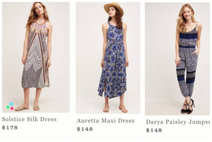 Anthropologie Statement Dresses