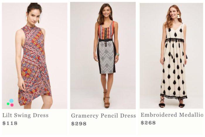 Anthropologie Statement Dresses