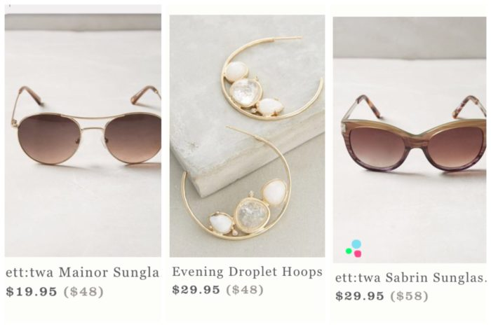 Anthropologie Tag Sale Favorites
