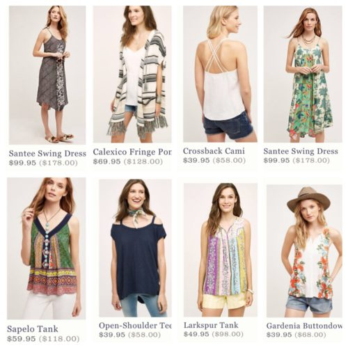 Anthropologie Weekend Sale Picks | AskSuzanneBell.com | Back to School Sales